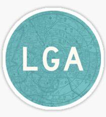 LGA New York City (LaGuardia) Airport Code Roundel Sticker