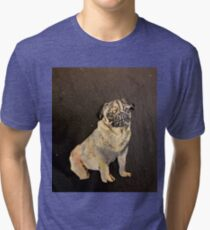 Potty Pug Tri-blend T-Shirt