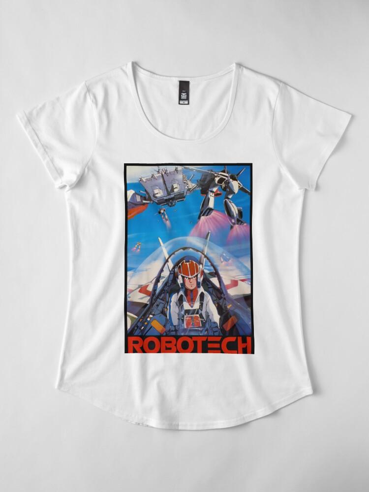 Alternative Ansicht von Robotech 1985 Rick Hunter Premium Rundhals-Shirt