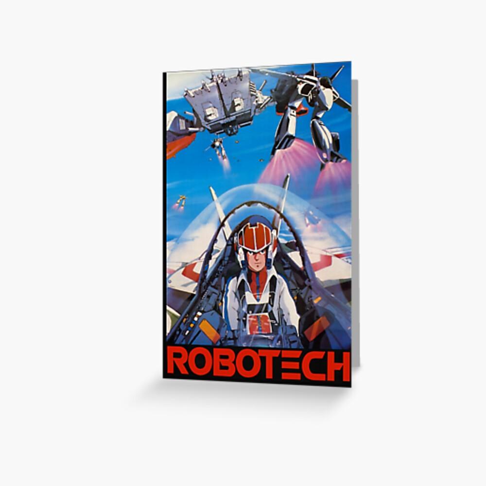 Robotech 1985 Rick Hunter Grußkarte