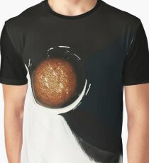 RICH CARAMEL PLANET CENTERED IN BLACK AND WHITE Graphic T-Shirt