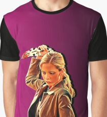 'Buffy in Pink' by JACKASH Graphic T-Shirt