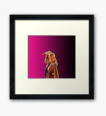 'Buffy in Pink' by JACKASH Framed Print
