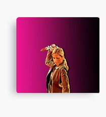 'Buffy in Pink' by JACKASH Canvas Print