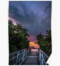 Harborwalk Sunset  Poster