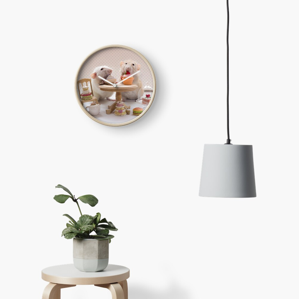 Tea and cake party Clock