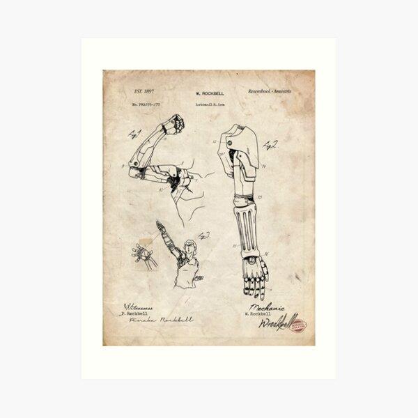 Fullmetal Alchemist - Automail Arm Patent Drawing Art Print