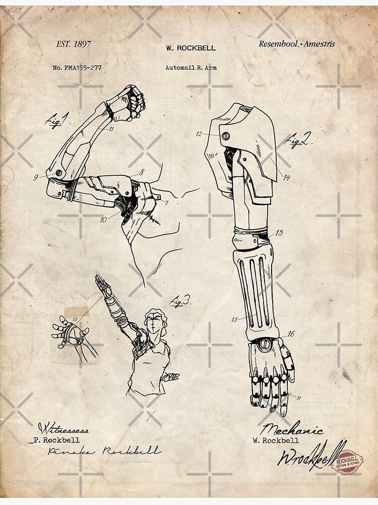 """""""Fullmetal Alchemist - Automail Arm Patent Zeichnung ..."""