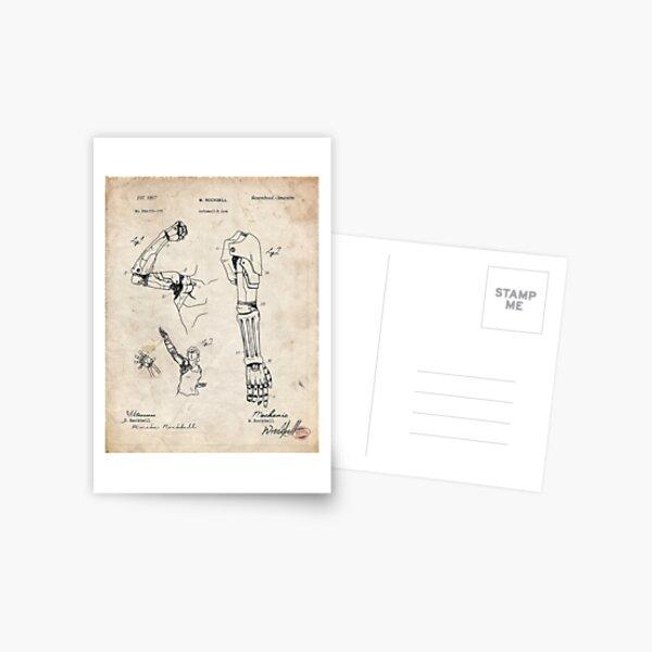 Fullmetal Alchemist - Automail Arm Patent Drawing Postcard