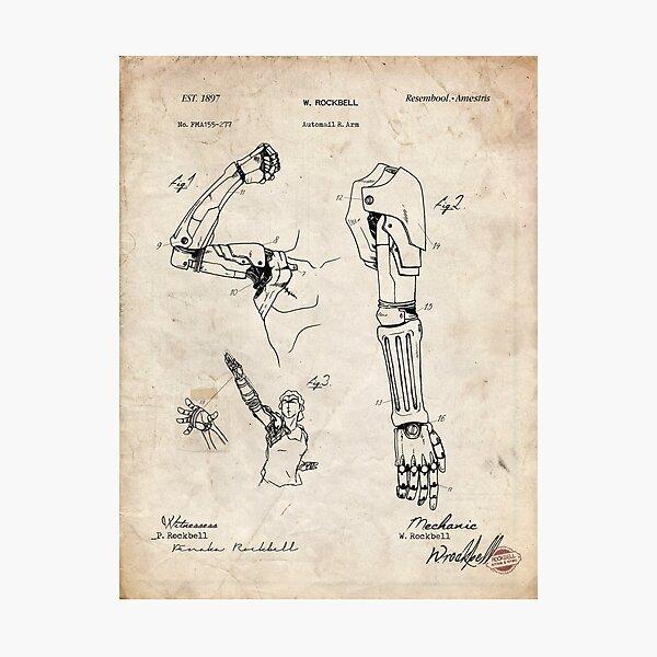 Fullmetal Alchemist - Automail Arm Patent Drawing Photographic Print