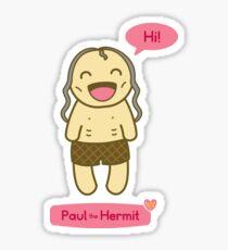 Hermit Friends: Paul the Hermit Sticker