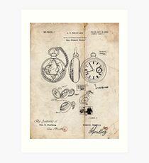 Fullmetal Alchemist - State Alchemist Pocket Watch Patent Drawing Art Print