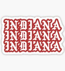INDIANA gothic Sticker