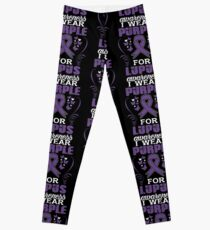 I Wear Purple For Lupus Awareness Shirt Leggings