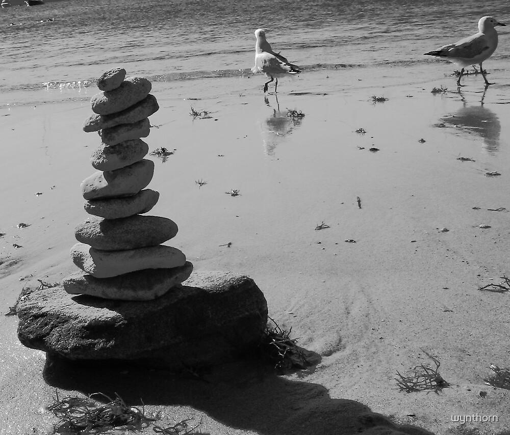 beach cairn by wynthorn