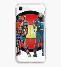 Black Superheroes HD iPhone Case/Skin