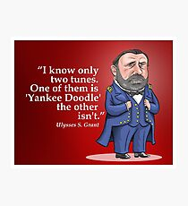 """Ulysses S. Grant, """"Yankee Doodle"""" Photographic Print"""