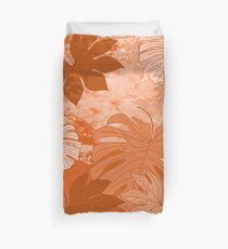 Tropical leaves Duvet Cover
