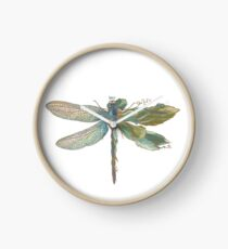 Dragonfly Art Clock