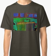 Old Rusty Green John Deere Tractor High Color Contrast Photograph Classic T-Shirt