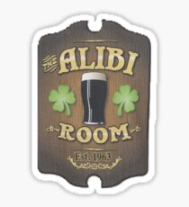 The Alibi-shameless  Sticker
