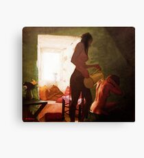 Girls Bath Canvas Print