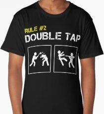 Zombie Survival Rule #2 Double Tap Long T-Shirt
