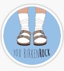 You Birkenstock Blue Sticker