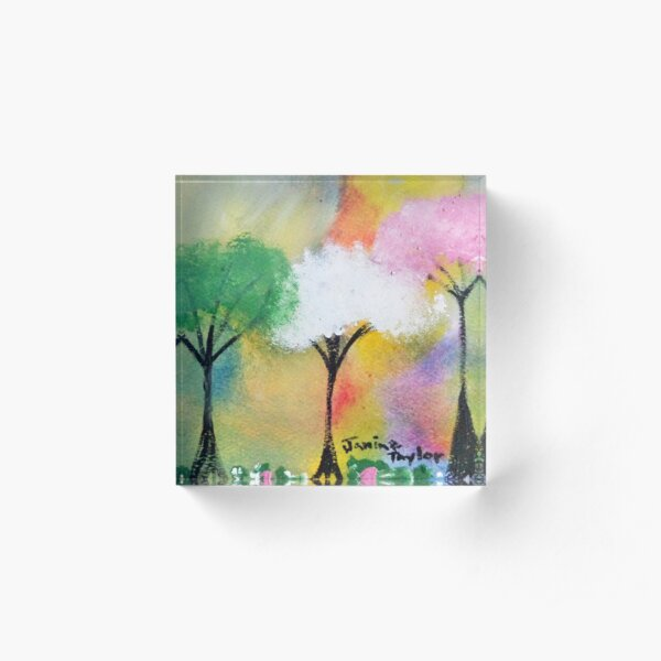 Colors in the Forrest Acrylic Block