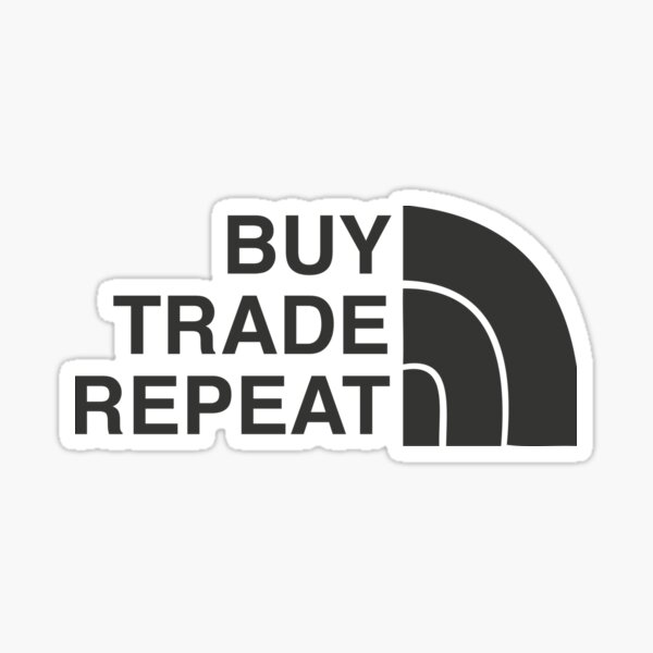 Buy Trade Repeat Cryptocurrency Sticker