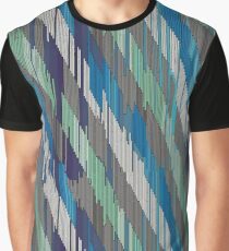 Abstract diagonal ornament of strokes Graphic T-Shirt