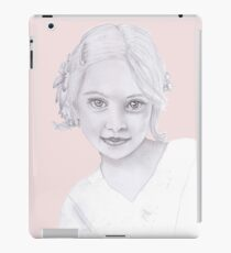 Girl with flowers in her hair iPad Case/Skin