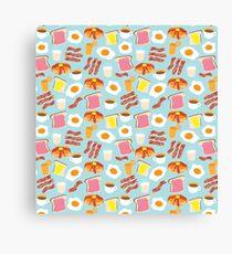Breakfast Fun Pattern Canvas Print