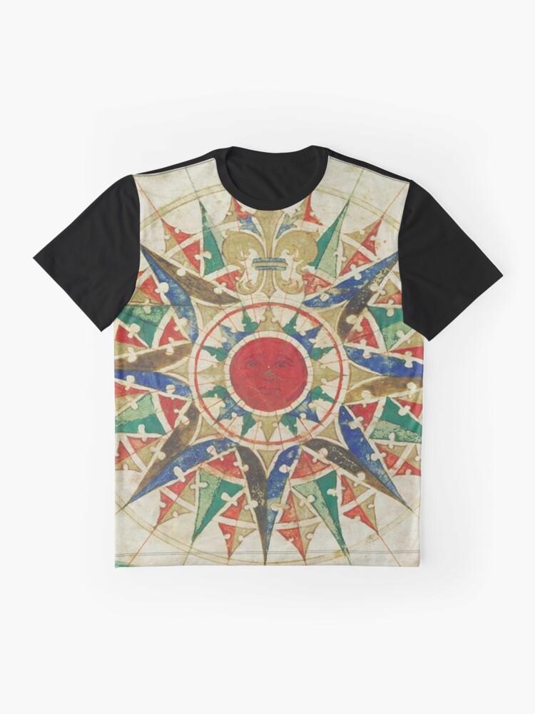 Alternative Ansicht von Vintage Kompass Rose Diagramm (1502) Grafik T-Shirt