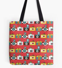 Colorful Toy Cameras Pattern Tote Bag