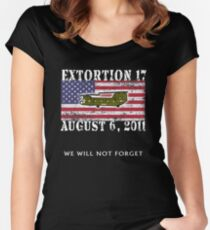Extortion 17 US Army Military Seal Team Six Tribute T Shirt Women's Fitted Scoop T-Shirt