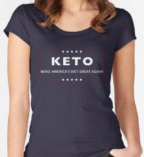 Keto Make America's Diet Great Again! Women's Fitted Scoop T-Shirt