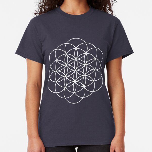 woman/'s available grey t shirt Merkaba the Flower of Life colourful art Men/'s