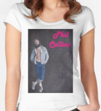 Phil Collins. Back in the 70s.  Women's Fitted Scoop T-Shirt