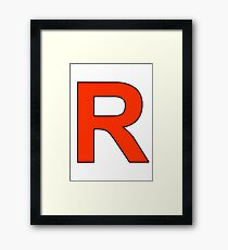 Team Rocket Logo Framed Print
