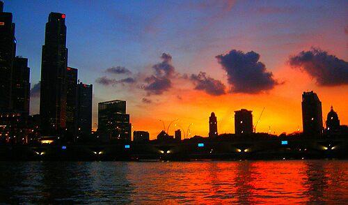 Singapore Skyline  by MissAdventure