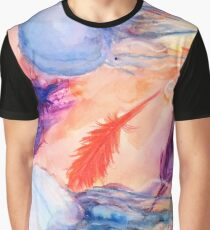 Jellyfish and Feather Rhapsody Graphic T-Shirt