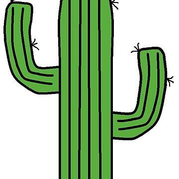 Cactus simple. Cute clipart men s