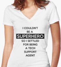 Sysadmin Super Hero Women's Fitted V-Neck T-Shirt