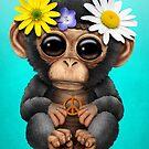 Niedlicher Baby Schimpanse Hippie von jeff bartels