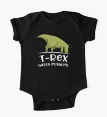 T-Rex Hates Pushups One Piece - Short Sleeve