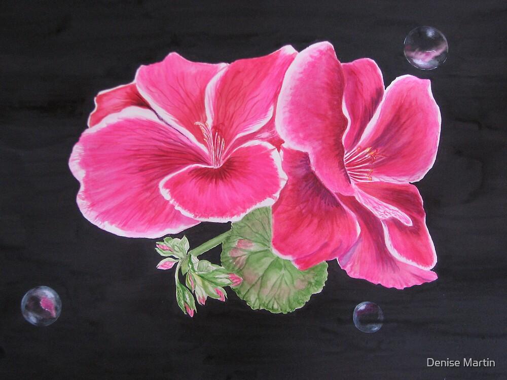 Pink pelargonium by Denise Martin