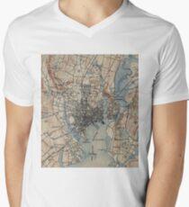 Vintage Map of New Haven Connecticut (1890) Men's V-Neck T-Shirt