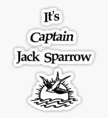 It's Captain Jack Sparrow Sticker