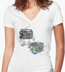 Revenge of the Radio star Women's Fitted V-Neck T-Shirt